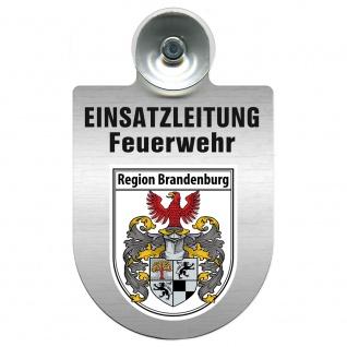 Einsatzschild Windschutzscheibe incl. Saugnapf - Einsatzleitung Feuerwehr - 309476 Region Brandenburg