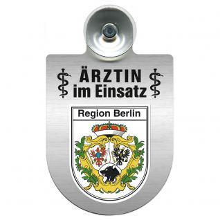 Einsatzschild Windschutzscheibe incl. Saugnapf - Ärztin im Einsatz - 309479-14 Region Berlin - Vorschau