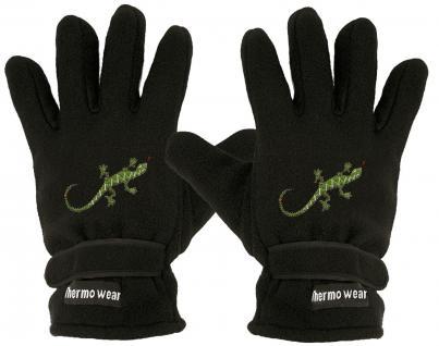 """(40385-56535) Fleece Handschuhe mit Einstickung """" ECHSE"""""""