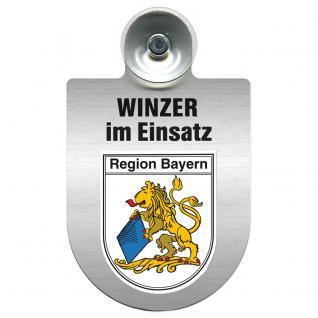Einsatzschild Windschutzscheibe incl. Saugnapf - Winzer im Einsatz - 309466-2 Region Bayern