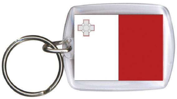 Schlüsselanhänger - MALTA - Gr. ca. 4x5cm - 81102 - WM Länder