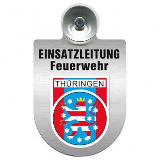 Einsatzschild Windschutzscheibe incl. Saugnapf - Einsatzleitung Feuerwehr - 309476 Region Thüringen