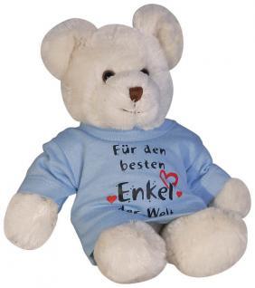 Plüsch - Teddybär mit Shirt - Für den besten Enkel der Welt - 27033