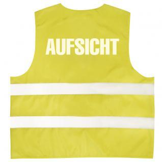 Warnweste mit Aufdruck - AUFSICHT - 10322 versch. Farben Gr. S-4XL - Vorschau 1