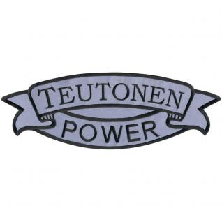 Rückenaufnäher - Teutonen Power - 07352 - Gr. ca. 37 x 13 cm - Patches Stick Applikation