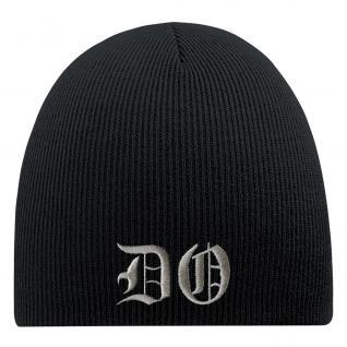 Beanie-Mütze mit Einstickung - DO - Wollmütze Wintermütze Strickmütze - 54583 schwarz