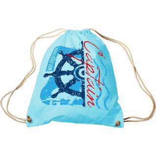 Sporttasche mit Aufdruck - Captain - 65134 - Trend-Bag Turnbeutel Rucksack