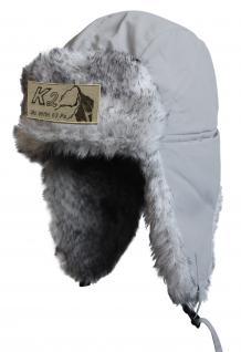 Chapka Fliegermütze Pilotenmütze Fellmütze in grau mit 28 verschiedenen Emblemen 60015 K2