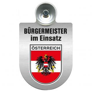 Einsatzschild Windschutzscheibe incl. Saugnapf - Bürgermeister im Einsatz - 309395-20 Region Österreich