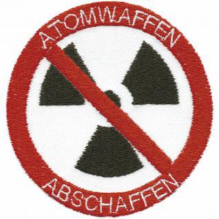 AUFNÄHER - Atomwaffen abschaffen - 01781- Gr. ca. 8cm - Patches Stick Applikation
