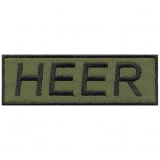AUFNÄHER - HEER - Abzeichen - 03265 - Gr. ca. 10 x 3 cm - Patches Stick Applikation