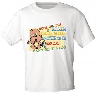 Kinder T-Shirt mit Print - Noch bin ich klein ... - 08212 - weiß - Gr. 122/128