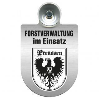 Einsatzschild für Windschutzscheibe incl. Saugnapf - Forstverwaltung im Einsatz - 309732-19 Region Preussen