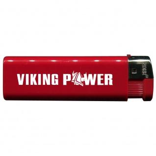 Einwegfeuerzeug mit Motiv - Trucker - Viking Power - 01144 versch. Farben rot