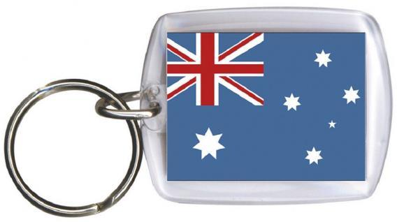 Schlüsselanhänger Anhänger - AUSTRALIEN - Gr. ca. 4x5cm - 81018 - WM Länder