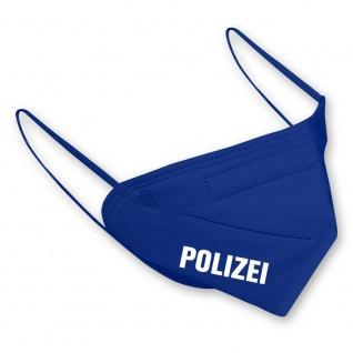 1 FFP2 Maske in Blau mit Aufdruck - POLIZEI - 15376