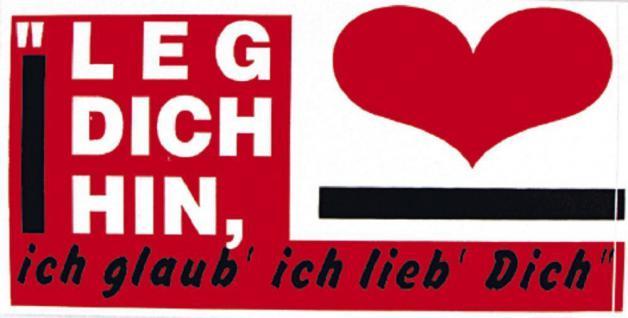 PVC Aufkleber Fun Auto-Applikation Spass-Motive und Sprüche - Leg dich ... - 303453 - Gr. ca. 16 x 8 cm