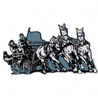 Aufnäher - Pferde mit Kutsche - 08079 - Gr. ca. 24 x 15 cm - Patches Stick Applikation