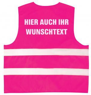 Warnweste mit Aufdruck - WUNSCHNAME - 11000 versch. Farben magenta / 2XL