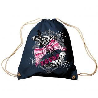 Trend-Bag Turnbeutel Sporttasche Rucksack mit Print - Country Music - TB65301 schwarz