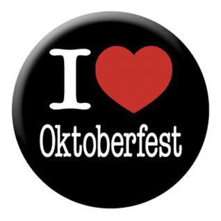 Ansteckbutton - I love Oktoberfest - 03744 - Gr. ca. 3, 5 cm