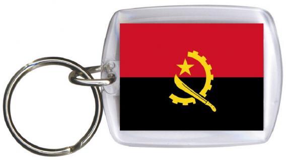 Schlüsselanhänger Anhänger - ANGOLA - Gr. ca. 4x5cm - 81012 - WM Länder