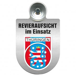 Einsatzschild Windschutzscheibe incl. Saugnapf - Revieraufsicht im Einsatz - 309759 Region Thüringen
