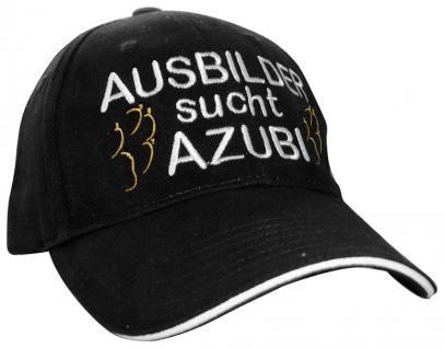 Baumwollcappy - Cap mit Fun - Stick - Hunde-Pfote Ausbilder sucht Azubi - 69725 schwarz - Baumwollcap Baseballcap Schirmmütze Hut