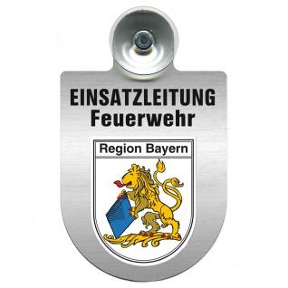 Einsatzschild Windschutzscheibe incl. Saugnapf - Einsatzleitung Feuerwehr - 309476 Region Bayern
