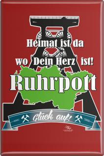 Küchenmagnet - Heimat ist ... Ruhrpott - Gr. ca. 8 x 5, 5 cm - 38245 - Magnet Kühlschrankmagnet