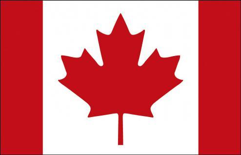 Fahne Stockländerfahne - Kanada - Gr. ca. 40x30cm - 77077 - Flagge Länderfahne