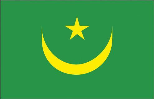 Schwenkflagge - Mauretanien - Gr. ca. 40x30cm - 77104 - Stockländerfahne