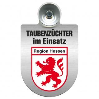 Einsatzschild Windschutzscheibe incl. Saugnapf - Taubenzüchter im Einsatz - 309385 Region Hessen