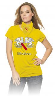 T-Shirt unisex mit Aufdruck - BADEN - 09414 gelb - Gr. L