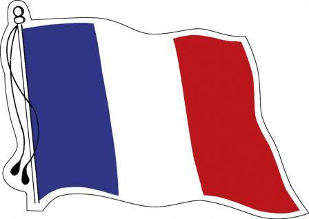 Aufkleber Autoaufkleber Länderfahne wehend - France - Frankreich - 301262 - Gr. ca. 95mm x 70mm