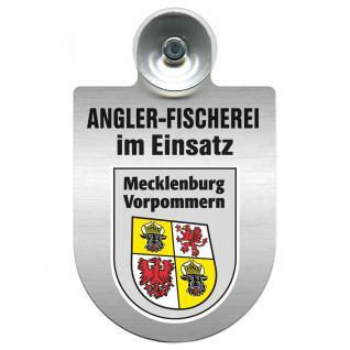 Einsatzschild Windschutzscheibe incl. Saugnapf - Angler-Fischerei im Einsatz - 309373-6 - Region Mecklenburg-Vorpommern