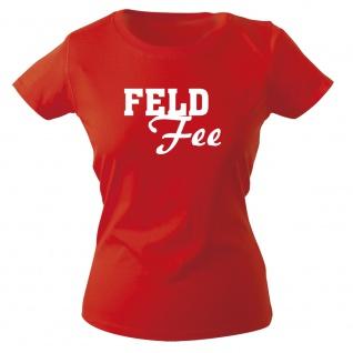 Girly-Shirt mit Print FELD Fee 15706 rot Gr. S