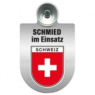 Einsatzschild Windschutzscheibe incl. Saugnapf - Schmied im Einsatz - 309462 - Region Schweiz