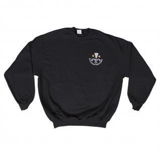Sweatshirt mit Einstickung - Schornsteinfeger - 09087 schwarz Gr. 3XL