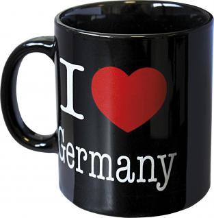 Motivtasse I love Germany Schwarz 57409