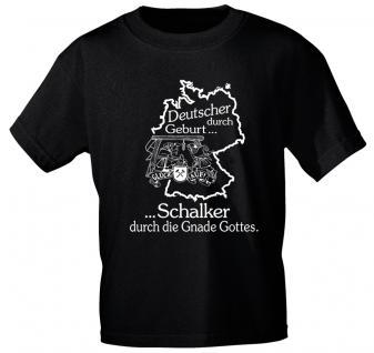 T-Shirt mit Print - Deutscher durch Geburt..Schalker... - 10908 - in 2 Farben Gr. S ? XXL
