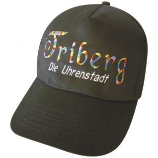 Schirm - Mütze - Cappy mit farbiger Bestickung - Friberg Die Uhrenstadt - 68026 grau - Cap Kappe Baumwollcap Baseballcap