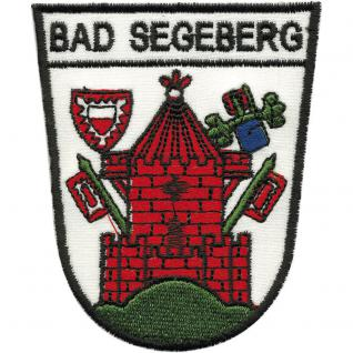 AUFNÄHER - Wappen - Bad Segeberg - 00434 - Gr. ca. 7, 5 x 9, 5 cm - Patches Stick Applikation