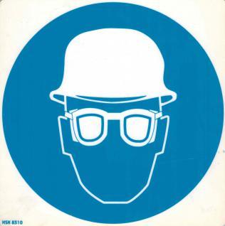 Hinweis- Schild - Schutzbrille und Helm - Gr. 20 X 20 cm - 308310