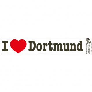 PVC-Aufkleber - I love Dortmund - Gr. ca. 18 x 3, 5 cm - 301920