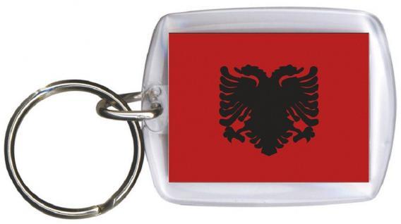 Schlüsselanhänger Anhänger - ALBANIEN - Gr. ca. 4x5cm - 81008 - WM Länder
