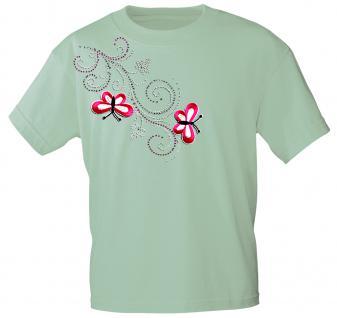 (12853) T- Shirt mit Glitzersteinen Gr. S - XXL in 16 Farben L / mint