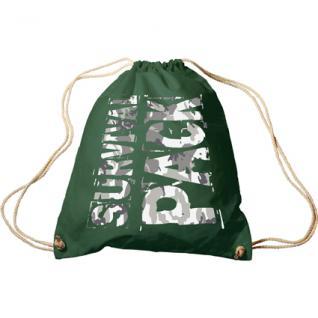 Trend-Bag mit Aufdruck - Survival Pack - 65015 - Turnbeutel Sporttasche Rucksack