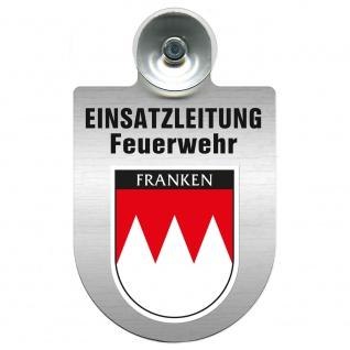 Einsatzschild Windschutzscheibe incl. Saugnapf - Einsatzleitung Feuerwehr - 309476 Region Franken