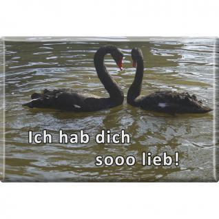 MAGNET - Ich hab Dich so lieb - Schwäne - Gr. ca. 8 x 5, 5 cm - 38853 - Küchenmagnet